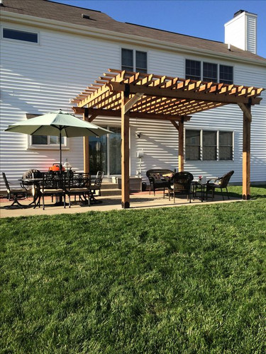 Light Brown Cedar Pergola