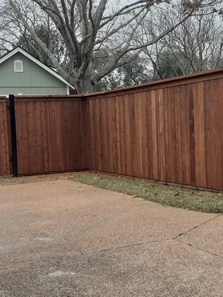6 foot cedar fence