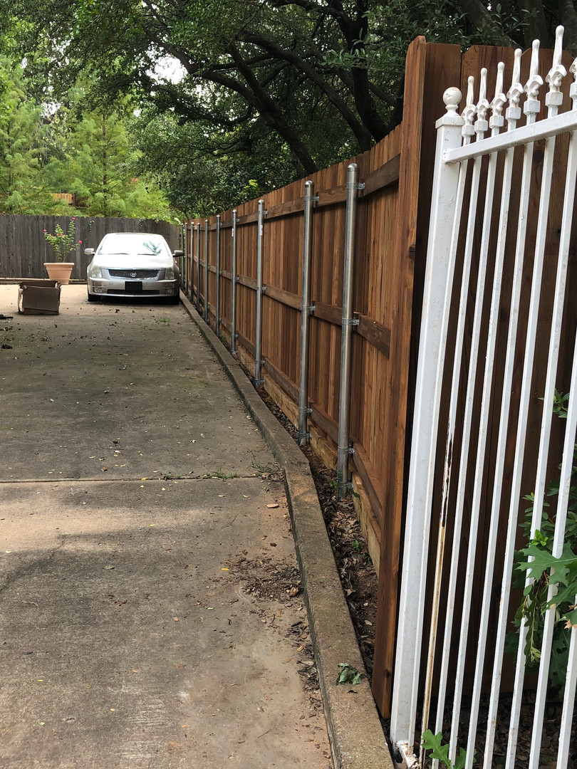 Medium Brown, 6 Ft Side by Side Fence with Rot Board