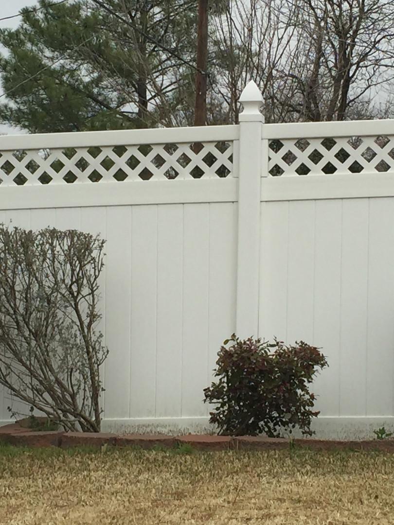 White Vinyl Fence with Lattice
