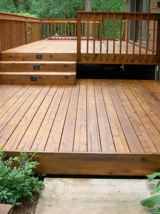 Light Brown Cedar Deck