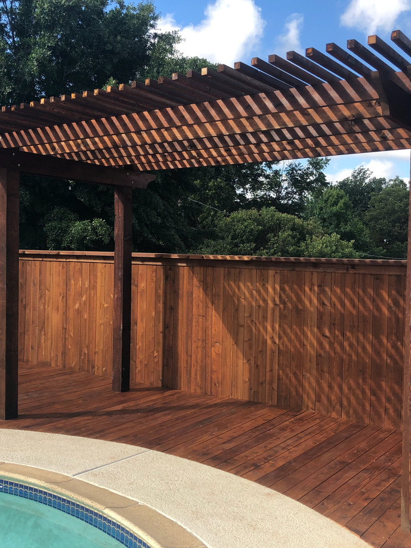 Traditional Cedar Pergola Stained Dark Brown