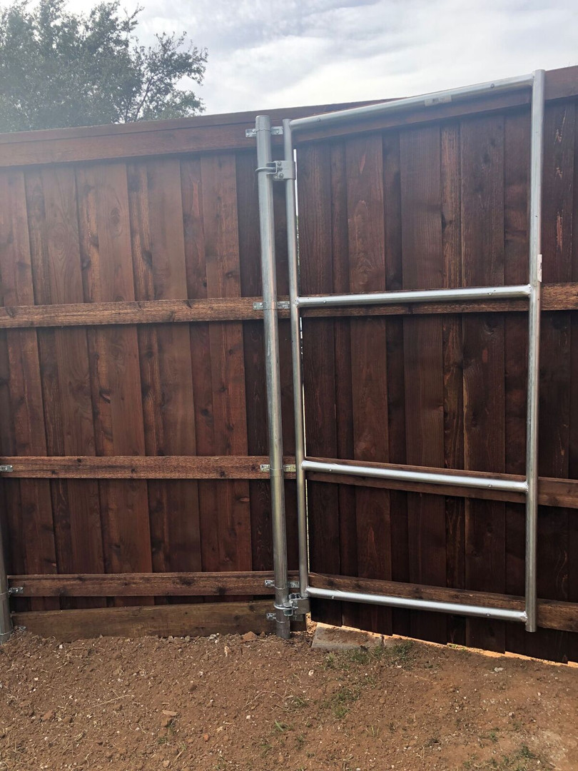 1 5/8 Galvanized Metal Frame Gate