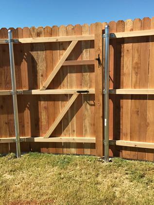 Cedar Side by Side Walk Gate