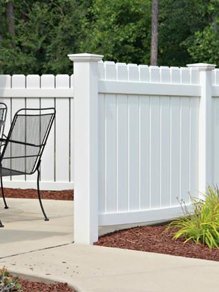4 Ft. White Vinyl Deck Fence