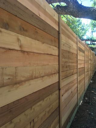 8 Ft Cedar Horizontal Fence
