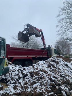 Grantham Grab Hire in Snow