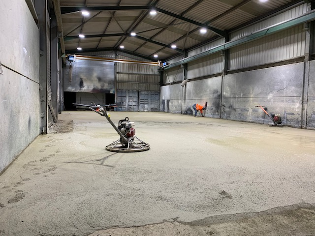 Power floating concrete grantham