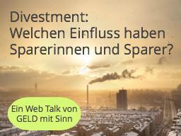 Divestment: Was bringt der Rückzug aus schädlichen Investments und welchen Hebel haben Sparer und Sp