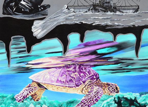 Marine turtle versus single-use plastic