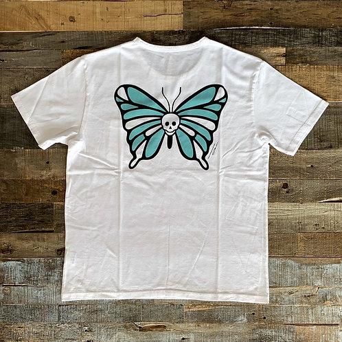 Cloveru  Tシャツ SKULL BUTTERFLY