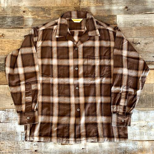 PENNEY'S オンブレーチェック オープンシャツ