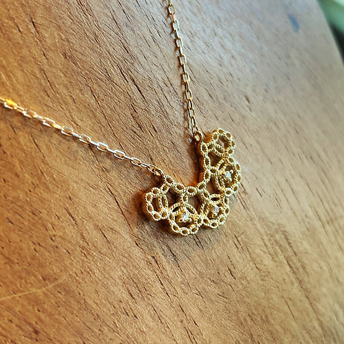 sowi K10+ダイヤモンド ネックレス(309N0139ーTY)