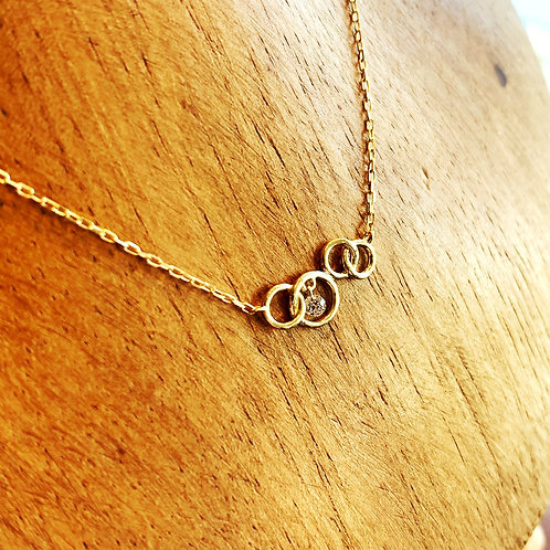sowi K10+ダイヤモンド ネックレス(309N0013-TY)