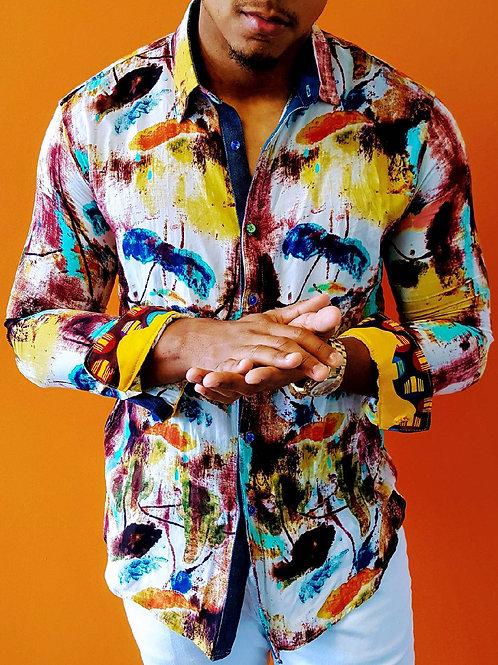 Art Print Long Sleeve Shirt
