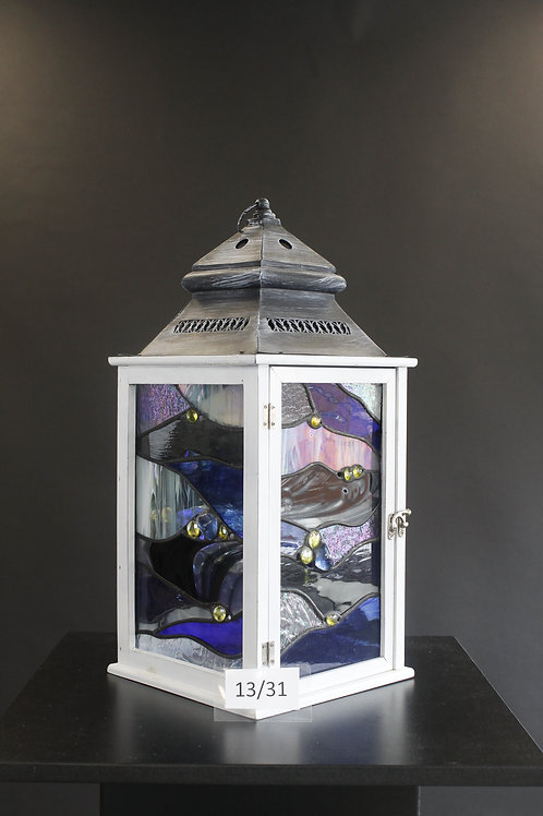 Stained Glass Candle Lantern - Klaudia Gibson