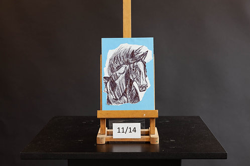 Horse on Blue - Jasmine McMullen