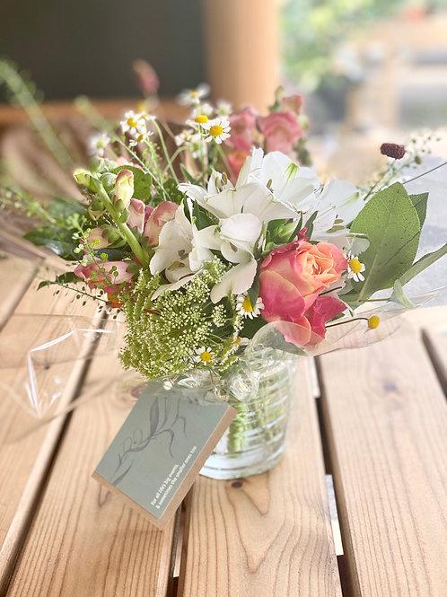 Little treat vase of spring flowers