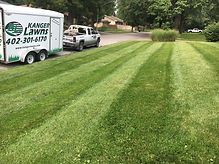 Lawn care mowing stripes at Shawn in Lincoln, NE