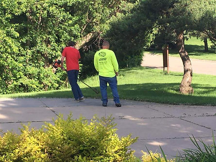 Outdoor job in action in Lincoln, NE