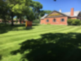Wells Fargo on South 27th in Lincoln, NE where lawn mowing was just completed.