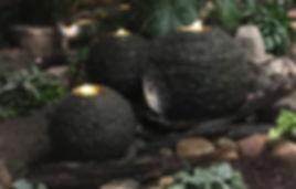 Three sphere decorative water feature in Omaha, NE
