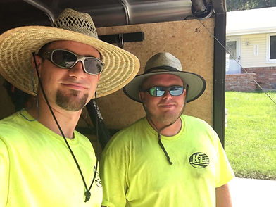 Cody Kanger & Jason lawn care workers in Lincoln, NE