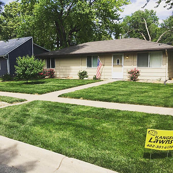 Cody Kanger's personal house after years of fertilizing and weed control in Lincoln, NE.