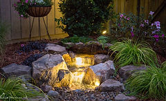 Pondless waterfalls are a great feature that can be combined with other waterscpes to bring your Omaha landscaping to life.
