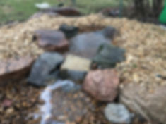 Pondless waterfall water feature in Omaha, NE