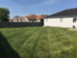 Finished product of a total yard clean-up in Lincoln, NE.