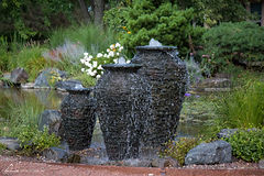 Decorative fountains which are a unique element to any Omaha area landscaping.
