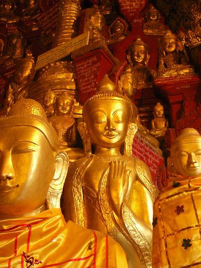 Buddha statues in Myanmar, Asia