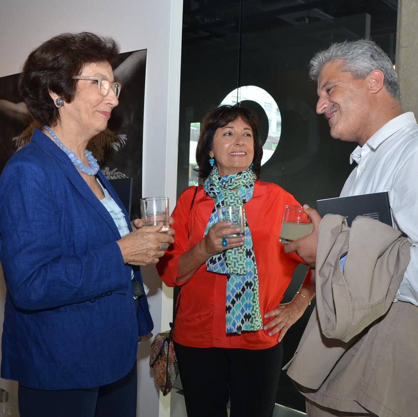 De gauche à droite Katia Azoulay, Najia Mehadji et Abdelaziz Idrissi