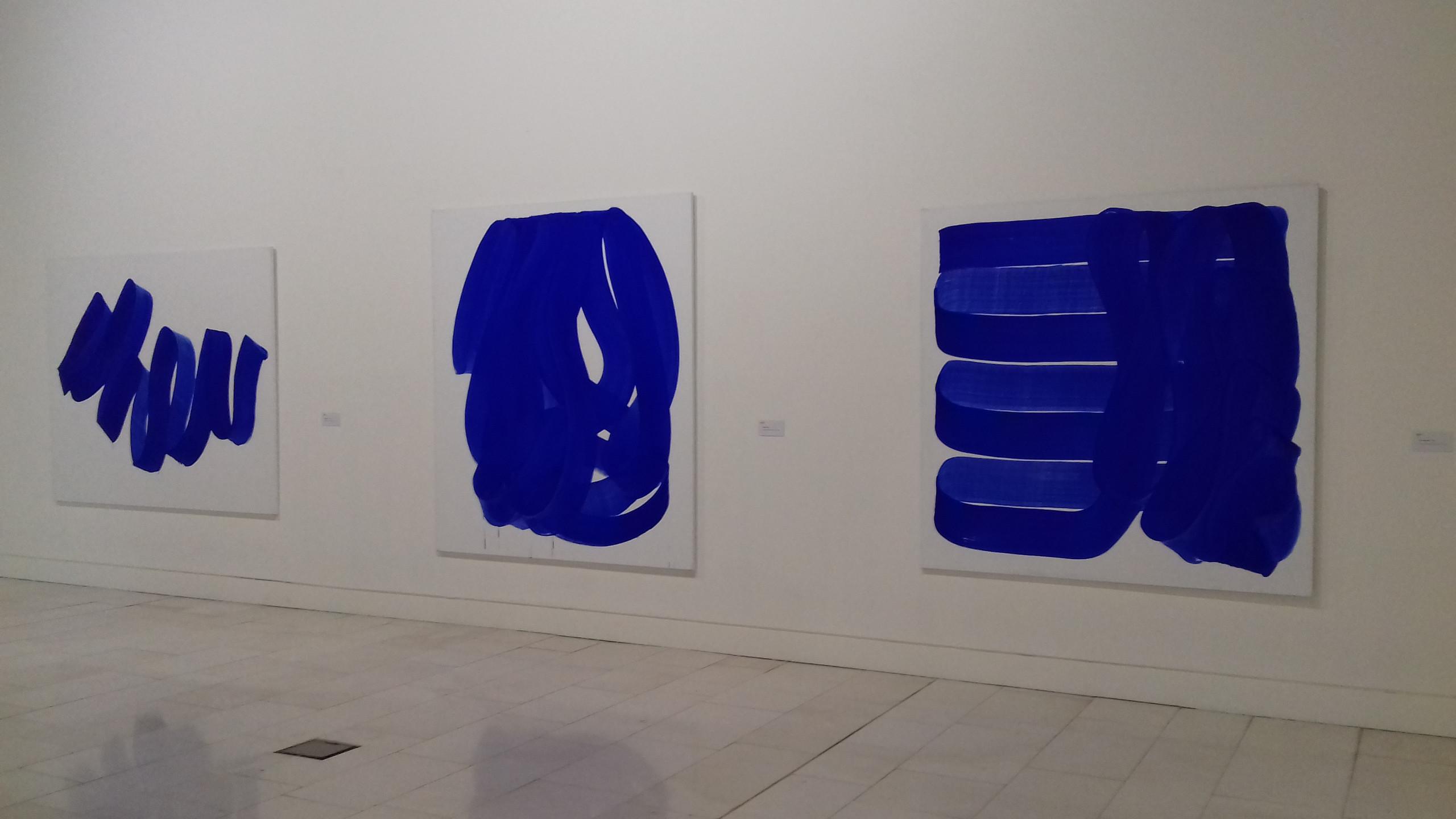 Peintures Blue Wave (2016) et Drapé