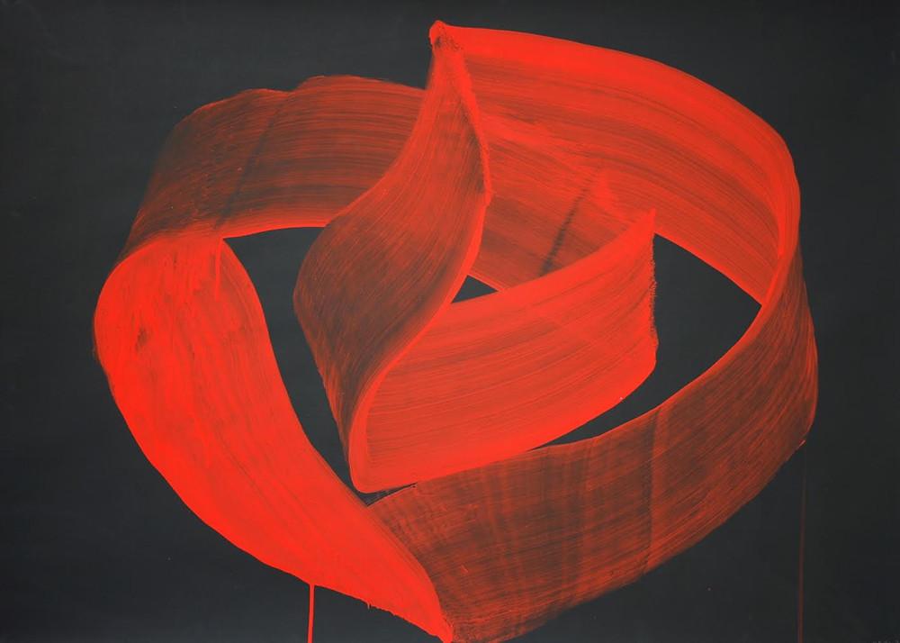 Volute, 2010, gouache sur papier, 75 x 108 cm