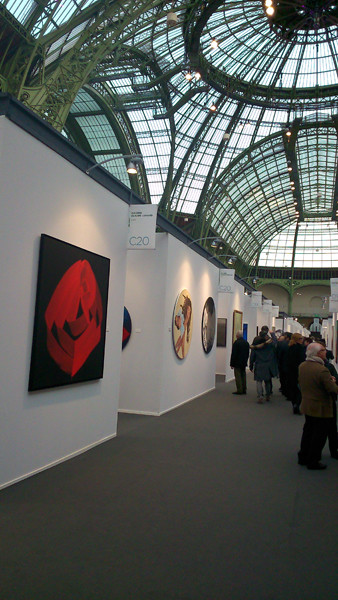 Accrochage à Art Paris / Art Fair