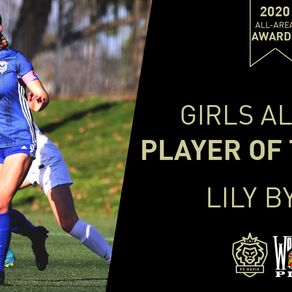 Lily Byrne Wins FC Davis 2020 High School All-Area  Player of the Year Award
