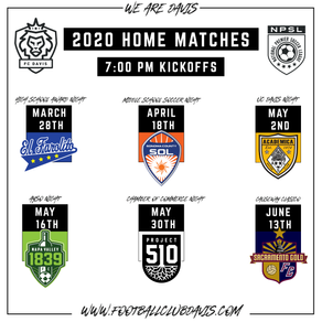2020 Season Schedule Released