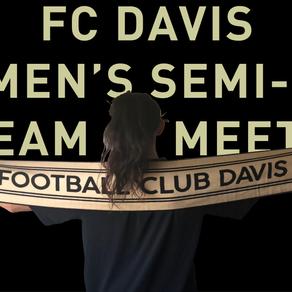 FC Davis Women's Semi-Pro Team Kick-Off Meeting