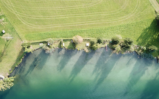 Unser privater Badestrand am Walchsee