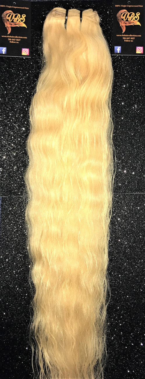 Platinum Raw Bold Blonde Wavy Hair Extensions United States Vbs Collection