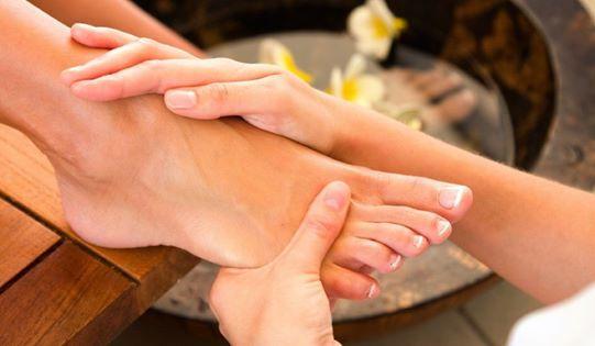 Cosmetische voetbehandeling