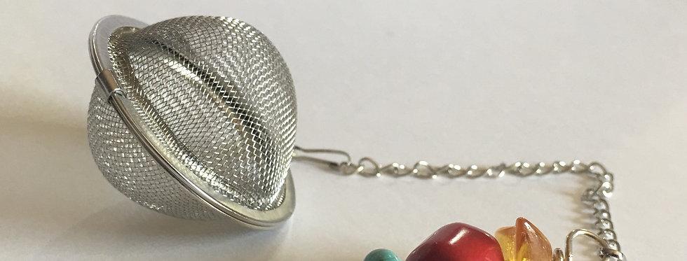 Tea Ball Infuser with semi-precious stones