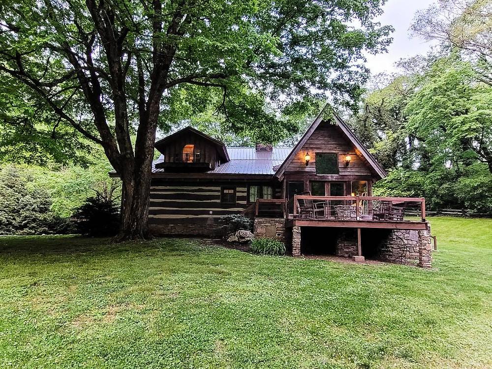 The 200-year-old log cabin at GlampKnox