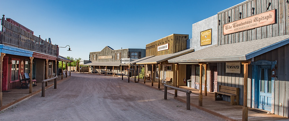 """The """"main street of Tombstone Monument Ranch, one of the best dude ranches in Arizona"""