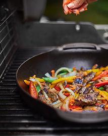 Lomito de cerdo al wok Weber