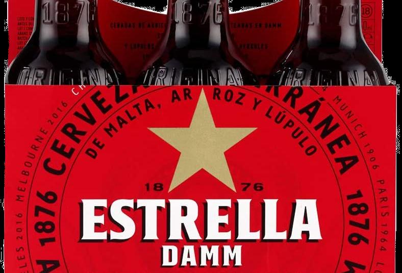 Cerveza Estrella Damm Botella 330ML   WEBER