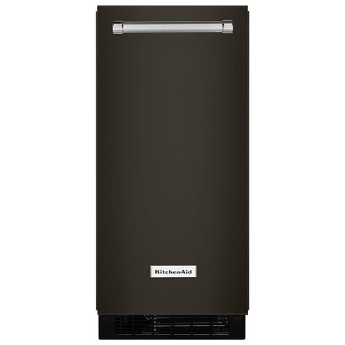 KitchenAid Ice Maker empotrable negro con bomba 25 lbs / 15in