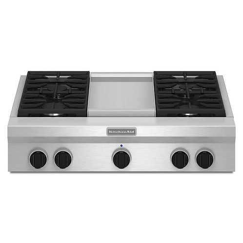 KitchenAid Estufa Empotrable Profesional a Gas 36in